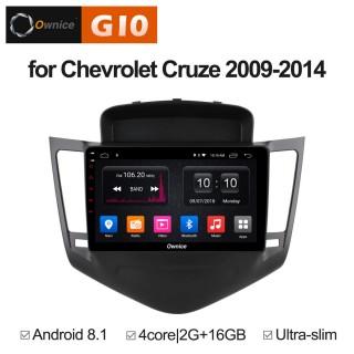 Штатная магнитола Ownice G10 S9222E для Chevrolet Cruze, 2009 (Android 8.1)