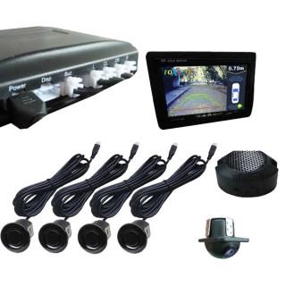 Парковочный радар с входом для камеры (Видеопарктроник)