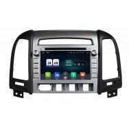Штатная магнитола CarDroid RD-2001 для Hyundai SantaFe 2 (Android 10) (4 кнопки)