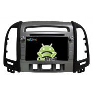 Штатная магнитола CarDroid RD-2008D для Hyundai SantaFe 2 (Android 8.0) (3 кнопки) DSP